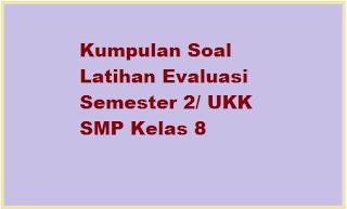 Download Kumpulan Soal UKK SMP Kelas 8 KTSP Th. 2015
