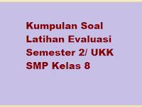 Soal UKK SMP Kelas 8 KTSP Th. 2017