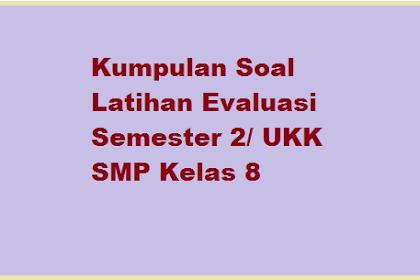 Soal UKK SMP Kelas 8 KTSP Th. 2019