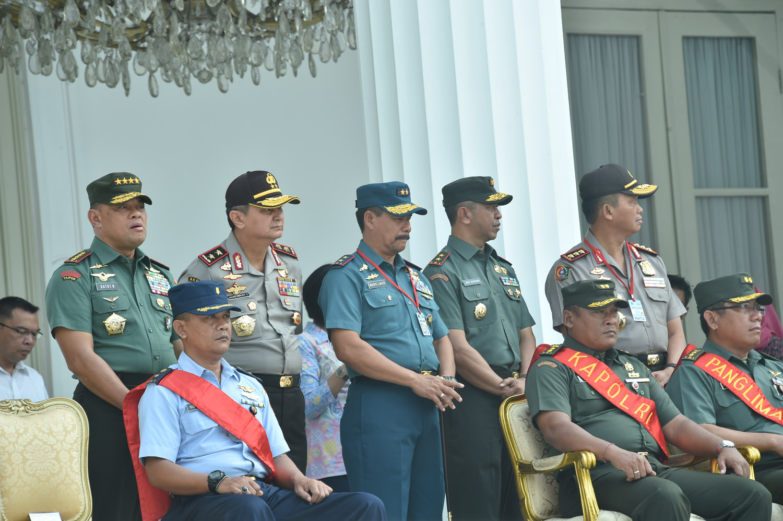 Panglima TNI Tinjau Geladi Bersih Upacara Prasetya Perwira TNI-Polri