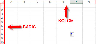 kolom dan baris table ms excel