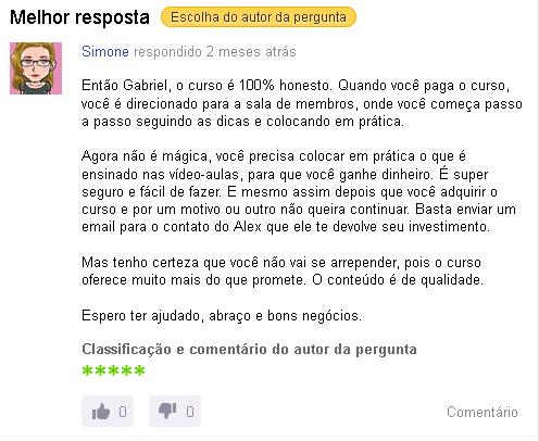 Curso Formula Negocio Online Yahoo Resposta