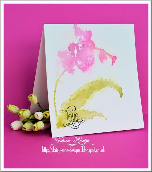 Penny Black, LIM,Flower, Watercolour, CAS