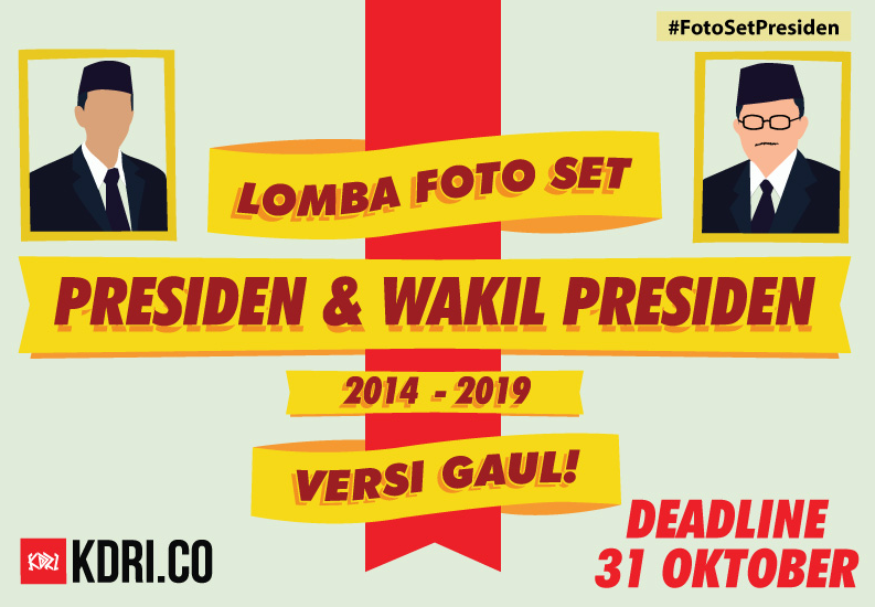 Jago Desain? Ikuti Kontes Foto Set Presiden & Wapres Versi Gaul