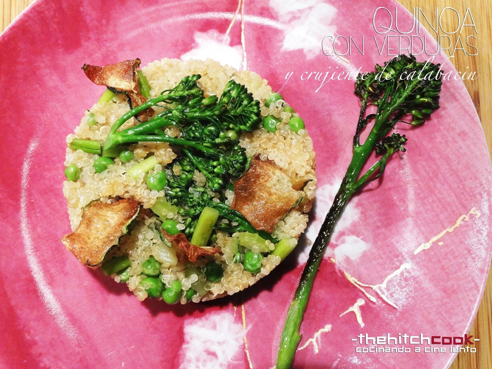The hitchcook quinoa con verduras y crujiente de for Cocinar quinoa negra