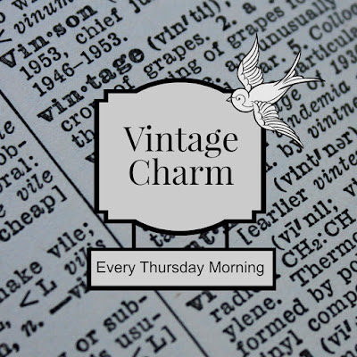 Vintage Charm party 11 mythriftstoreaddiction.blogspot.com  Vintage Thursday morning link party