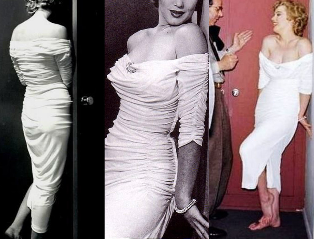 This Was A Custom Request Dress, Styled After The Ceil Chapman Dress  Marilyn Monroe Wore On The Cover Of Life Magazine. The Base Is A Stretch  Satin With Bra ...