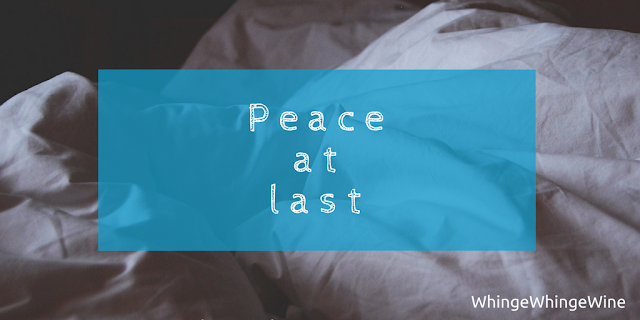 Peace at last: The story of a particularly crappy night