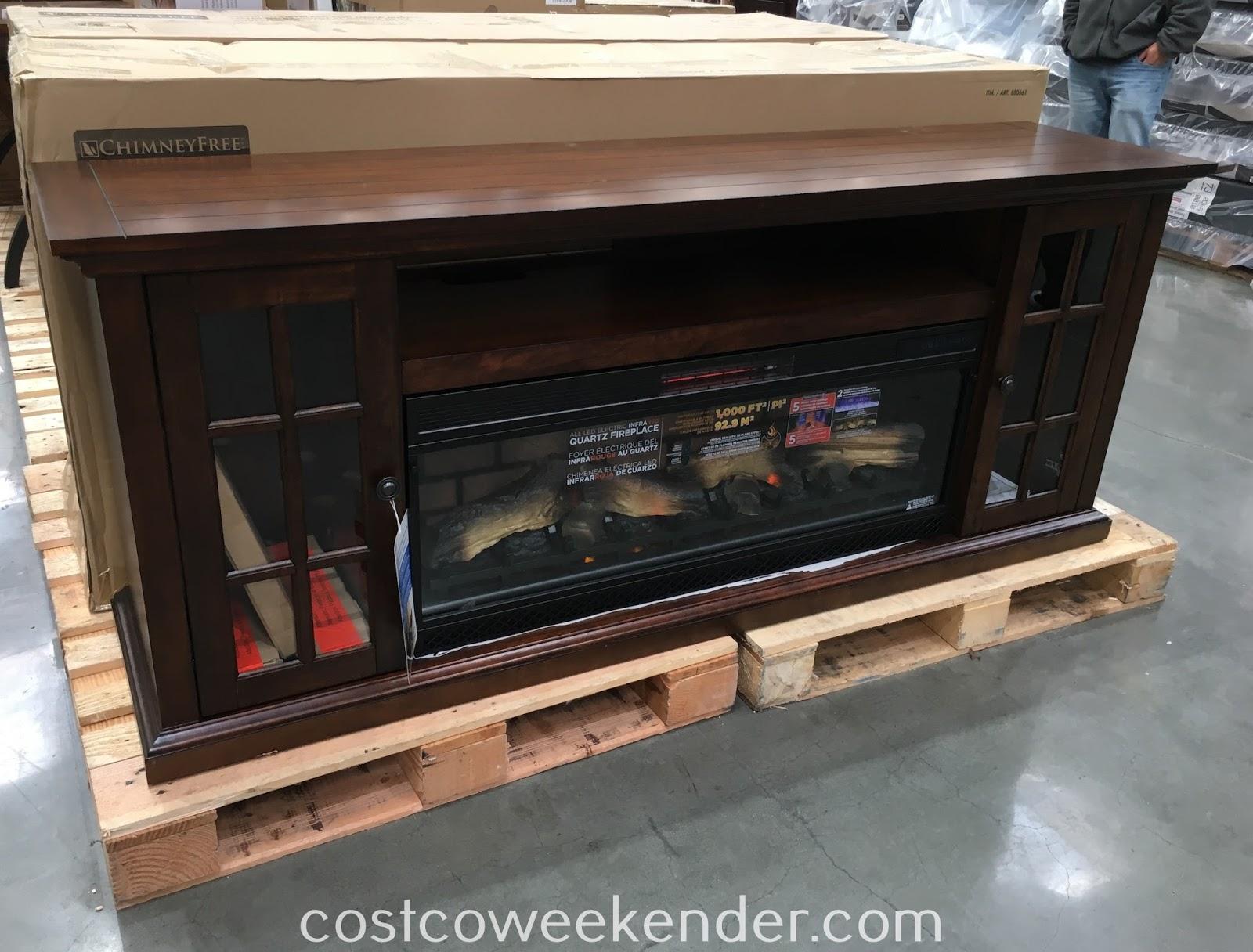 Tresanti Chimneyfree Infrared Fireplace And Media Mantel