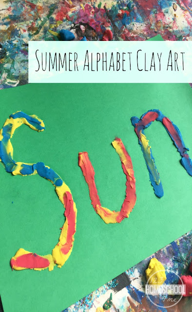 Summer Alphabet Clay Art is such a fun craft for kids from toddler, preschool, kindergarten, first grade, and more. Perfect summer activities for kids