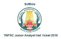 TNPSC Junior Analyst Hall Ticket