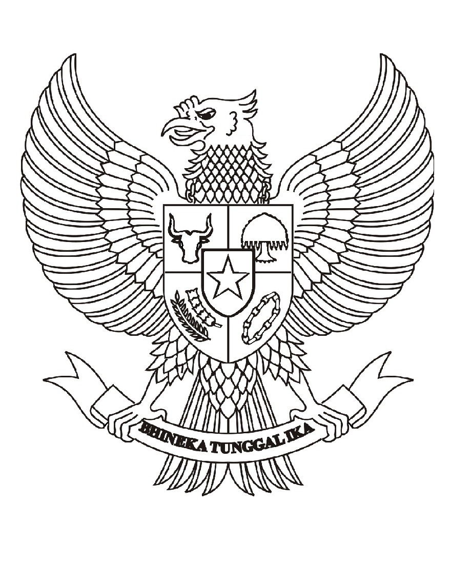 third image of Gambar Burung Garuda Pancasila Untuk Mewarnai with Mewarnai Gambar: Mewarnai Gambar Sketsa Garuda Pancasila
