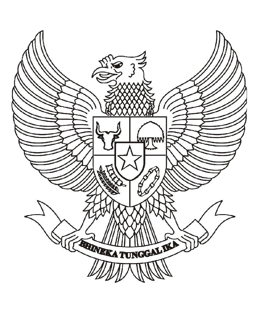 Mewarnai Gambar Sketsa Garuda Pancasila