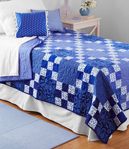 Rhapsody in Blue Quilt Free Pattern