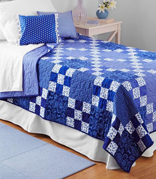 Rhapsody in Blue Quilt Free Pattern
