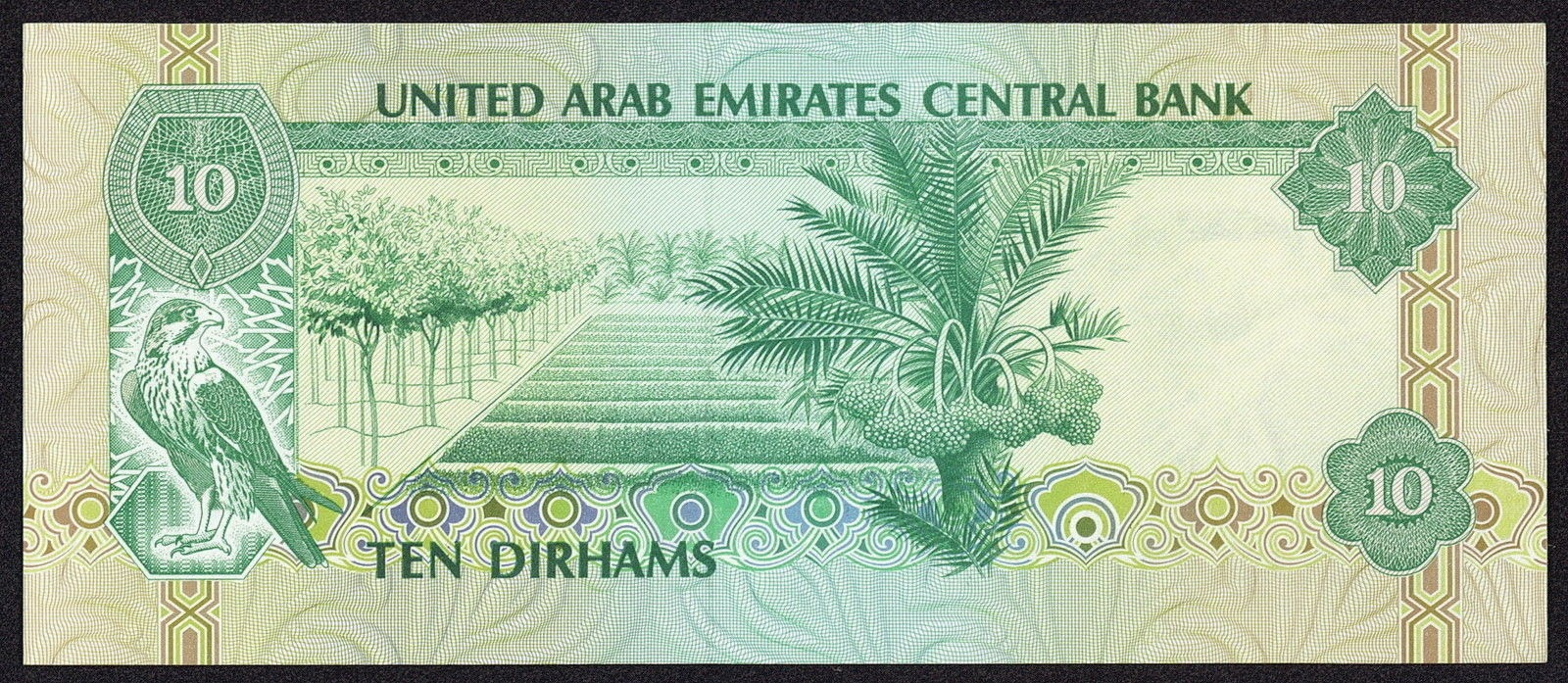 United Arab Emirates Currency 10 Dirhams banknote 1982