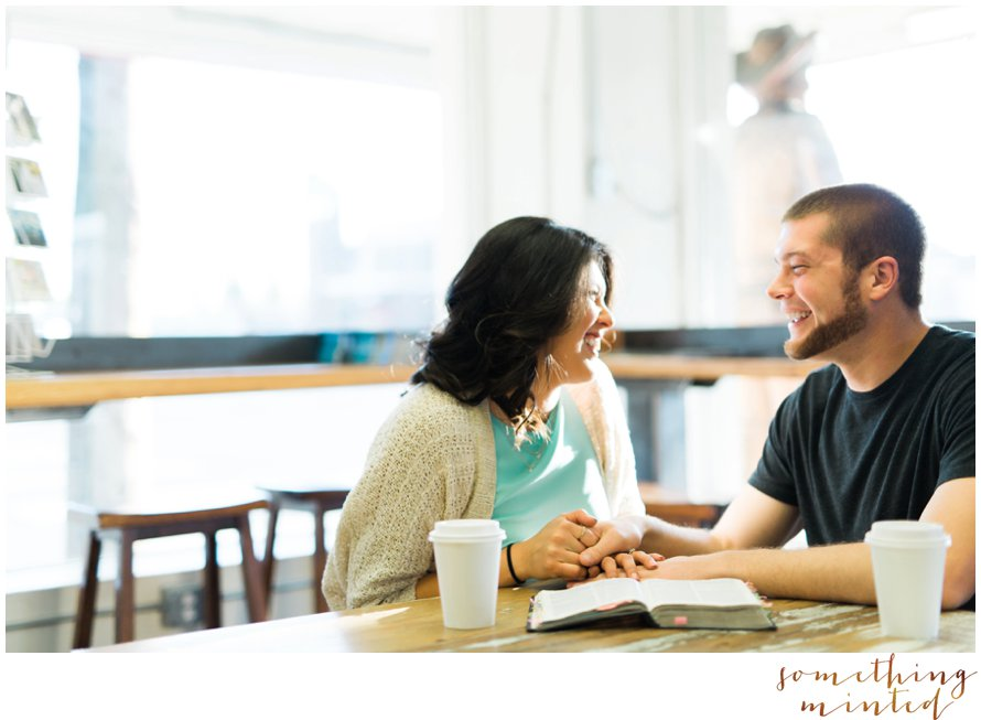Coffee Shop Engagement Session | The Woolley Market