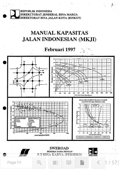 Download manual kapasitas jalan indonesia ( mkji ) 1997.