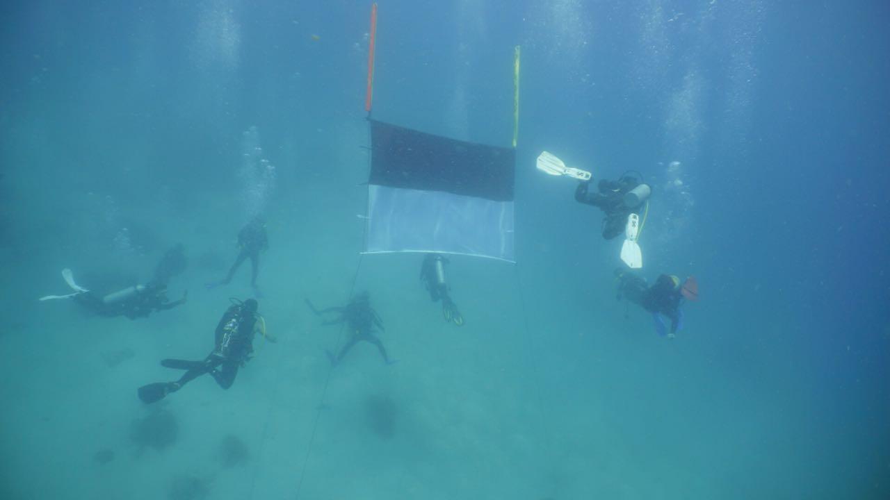 Lintas Komunitas dan Yayasan Makassar Skalia Kibarkan Bendera di Atas Perahu Pinisi