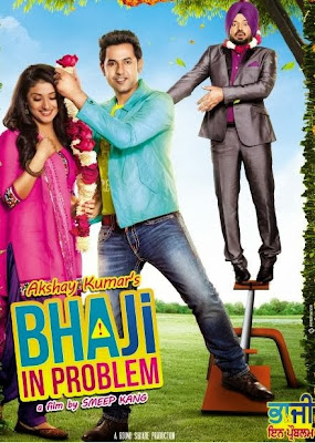 Poster Of Pollywood Movie BhaJi in Problem 2013 300MB HDRip 480P Full Punjabi Movie