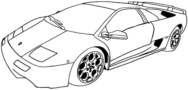 Coloring Pages For Kids Sport Cars Coloring Pages Coloring Ideas