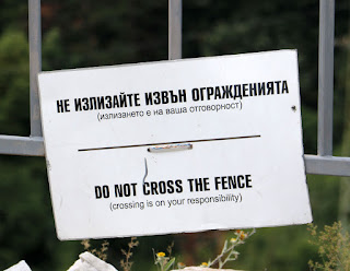 A Bulgarian safety notice