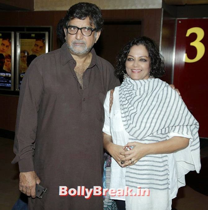 Baba Azmi, Tanvi, Esha Deol at Garm Hava screening