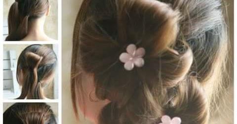 Model Gaya Ikat Rambut Anak Perempuan - Contoh Gaya Rambut