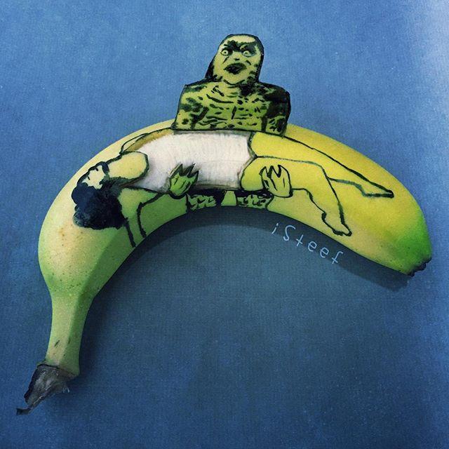 lukisan media pisang paling kreatif unik lucu dan menakjubkan-20