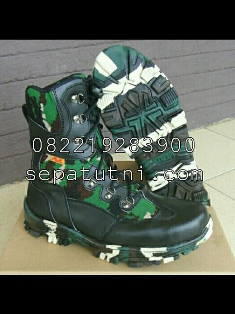 Sepatu PDL TNI Spider Loreng NKRI merk AWL