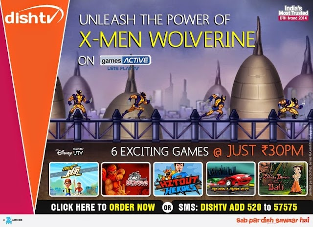 X-Men Wolverine Unleashed available on Dish TV Games Active