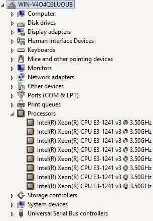Xeon® E3-1241V3 (4C/8T)