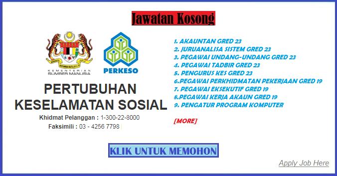 Jawatan Kosong Perkeso Terbaru apply job here