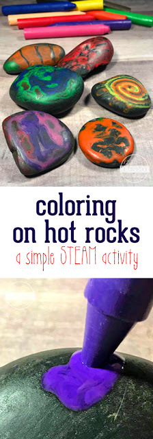 kids will love this fun rock crafts for kids where kids will color on hot rocks. Such a fun STEAM activity.