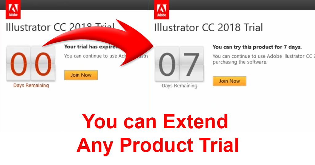 How to Extend Adobe Trial Period of Any Adobe Product - Free Of Cost