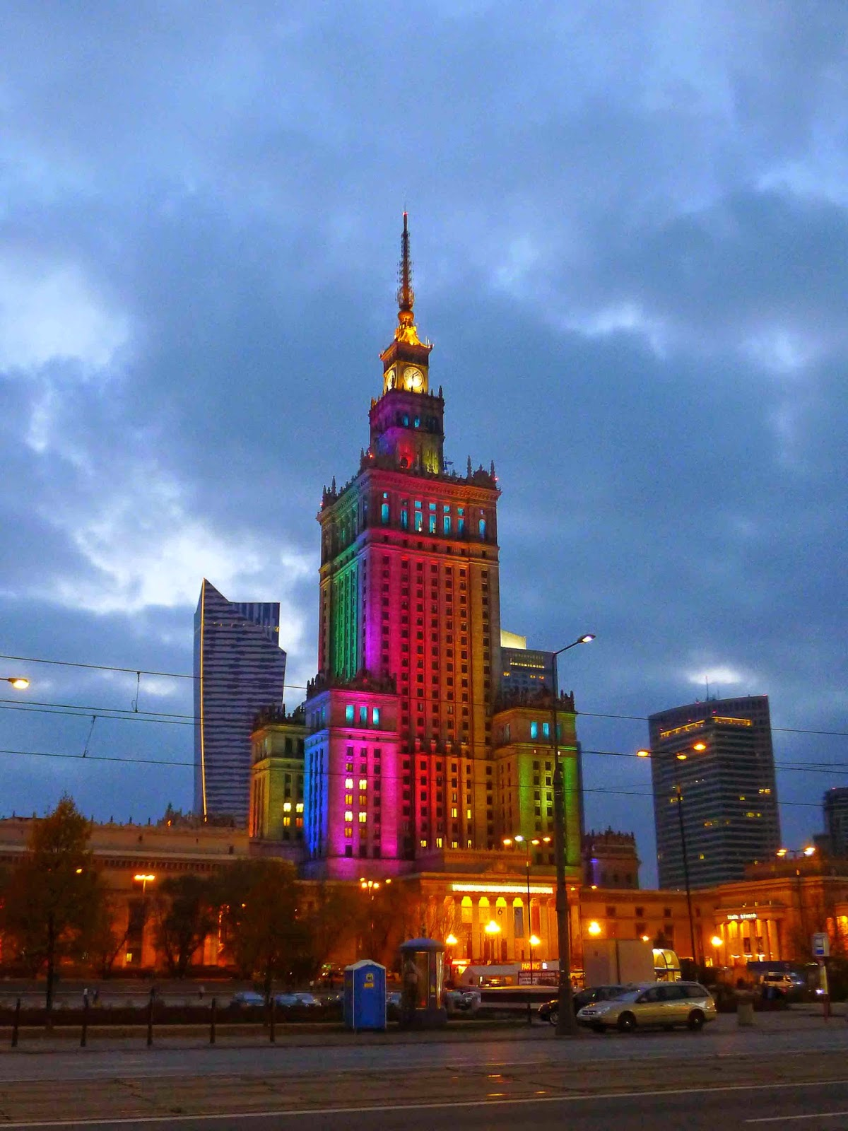Illuminated Palace of Culture and Science