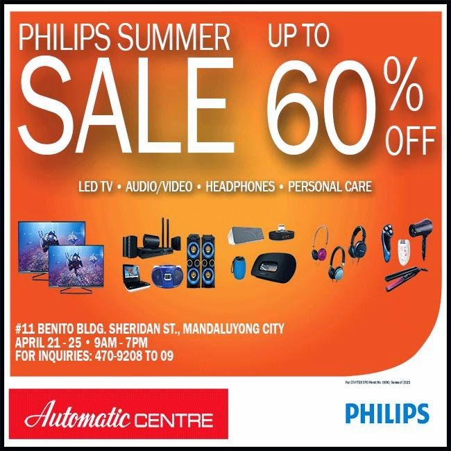 Automatic Centre: PHILIPS SUMMER SALE 2015!