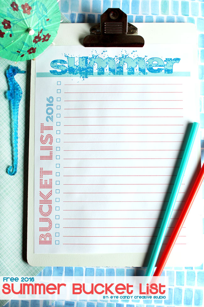 free summer bucket list, summertime, bucket list for summer