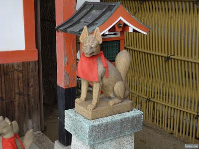 姫嶋神社楠社白狐