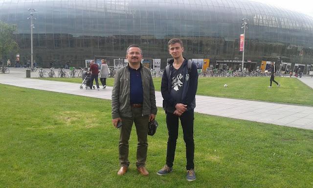 Harun İstenci Orhan Özin ile birlikte Strasbourg Garında...