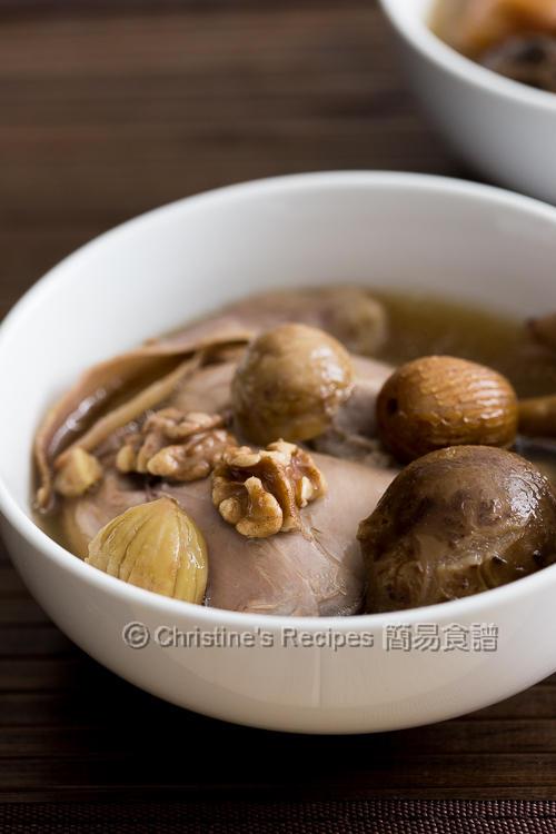 栗子核桃冬菇玉竹煲雞湯 【美味養生】 Chestnut Walnut and Chicken Soup | 簡易食譜 - 基絲汀: 中西各式家常菜譜