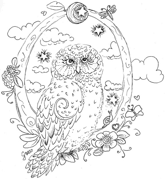 Printable Coloring Pages For Adults Owls Owl Coloring Pages Animals  Coloringarena
