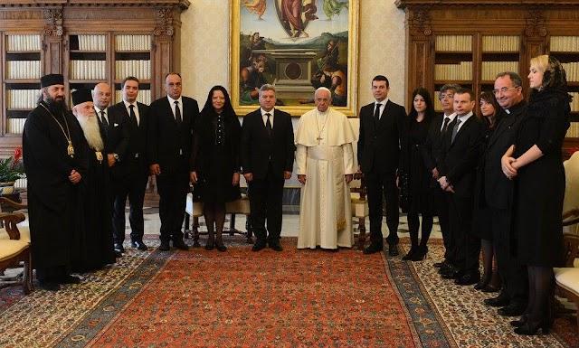 Papst empfängt Präsidenten Ivanov anlässlich Kyrill- und Method Feiertag