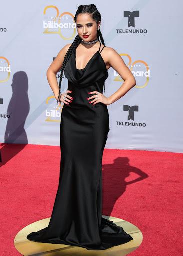 Becky G red carpet fashion dresses photo