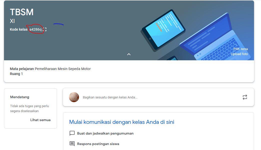google classroom untuk guru