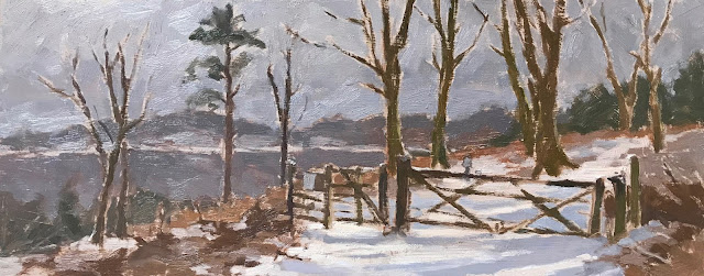 #317 'Spring Snow at the Devils Punch Bowl' 8×19.5″