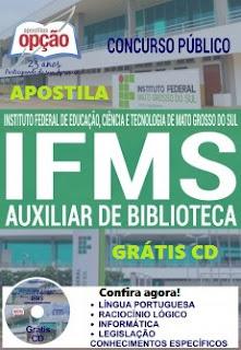 Apostila Concurso IFMS Digital e Impressa.