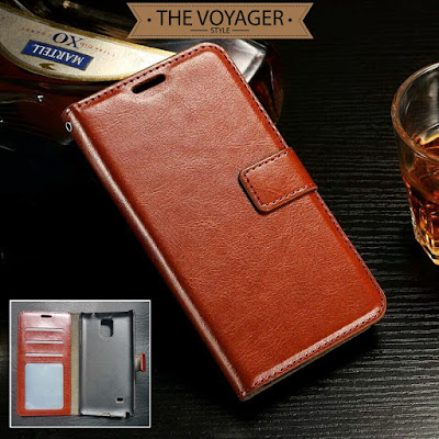 Leather flip case cover wallet Samsung Galaxy Note 4 dompet sarung hp kulit asli vintage luxury