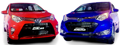 Toyota Calya Mini MPV two color hd image