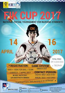 Lomba Futsal Nasional FIK CUP 2017 di UI